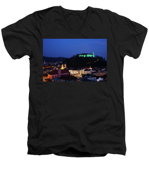 Ljubljana Castle Men's V-Neck T-Shirt