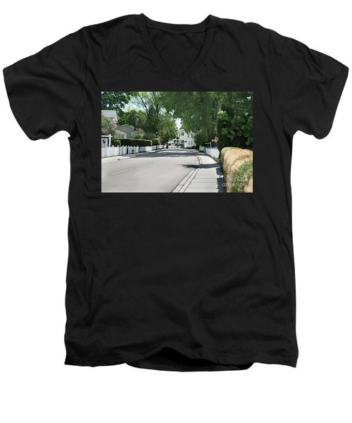 Mackinac Island Street  Men's V-Neck T-Shirt