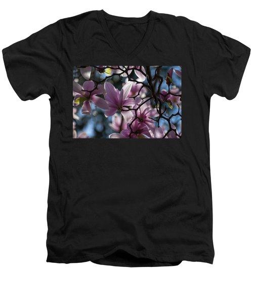 Magnolia Net - Men's V-Neck T-Shirt