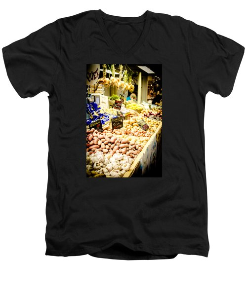 Men's V-Neck T-Shirt featuring the photograph Market by Jason Smith