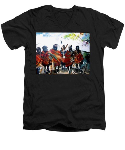 Masaai Boys Men's V-Neck T-Shirt