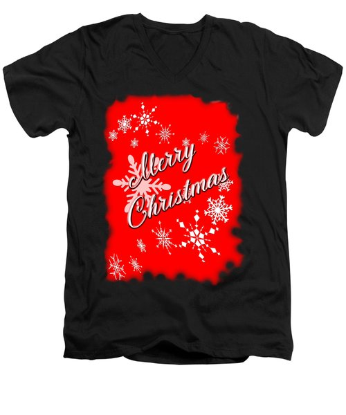 Merry Christmas Men's V-Neck T-Shirt