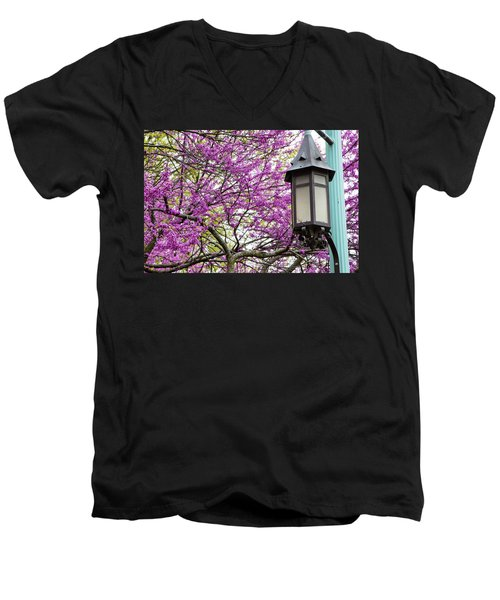 Michigan State University Spring 7 Men's V-Neck T-Shirt by John McGraw