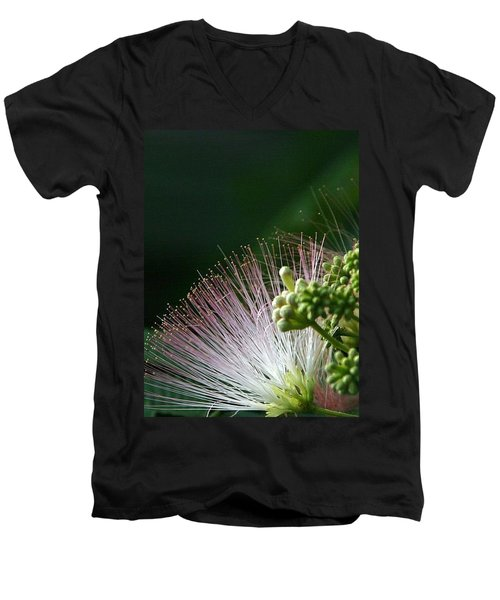 Men's V-Neck T-Shirt featuring the photograph Mimosa Whiskers by John Glass