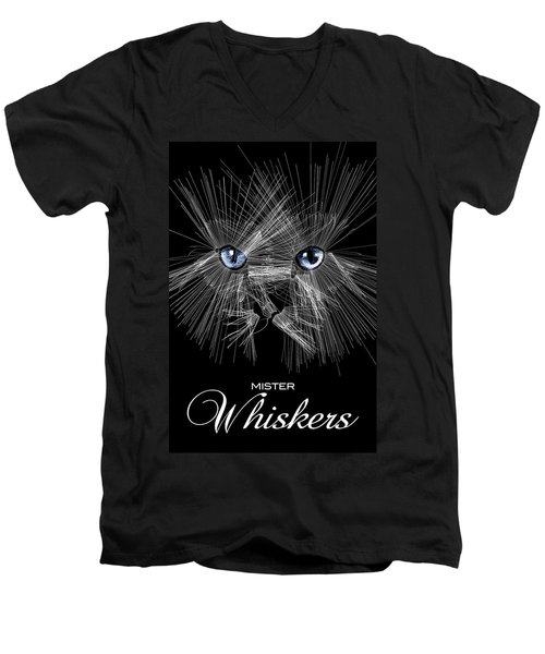 Mister Whiskers Men's V-Neck T-Shirt by ISAW Gallery