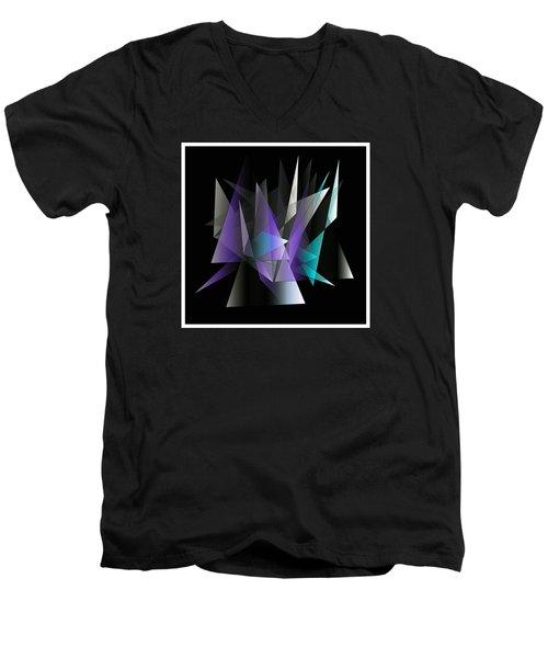 Modern 3 Men's V-Neck T-Shirt by Iris Gelbart