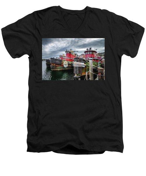 Moran Towing Tugboats Men's V-Neck T-Shirt