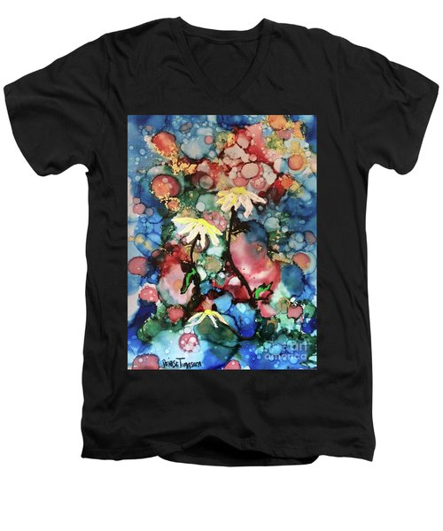 Men's V-Neck T-Shirt featuring the painting Mothers Day by Denise Tomasura