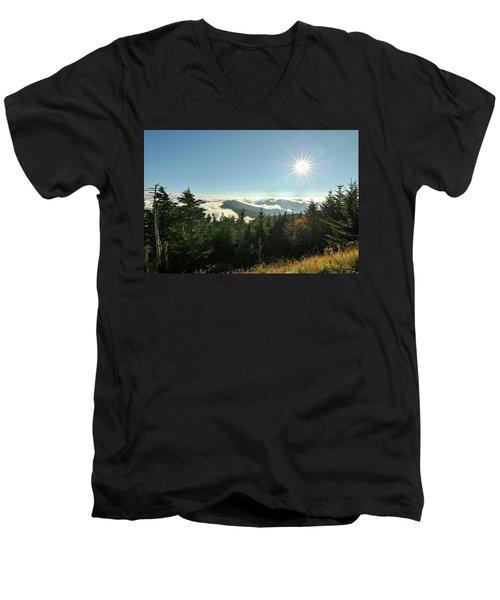 Mt Mitchell Landscape Men's V-Neck T-Shirt