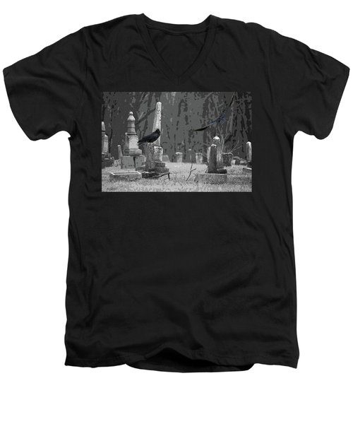 Murder Of Crows Men's V-Neck T-Shirt by Rowana Ray