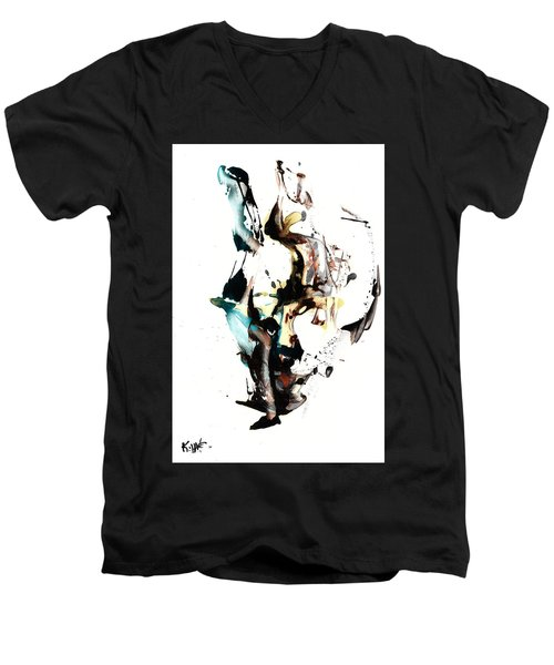 My Form Of Jazz Series 10064.102909 Men's V-Neck T-Shirt by Kris Haas