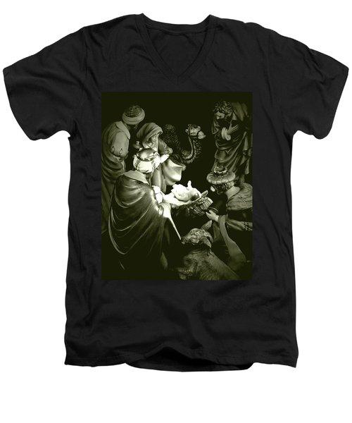 Nativity Men's V-Neck T-Shirt by Elf Evans