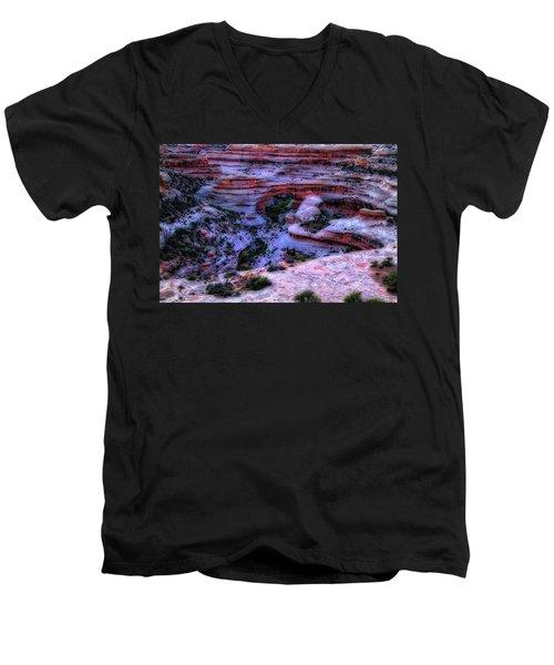 Natural Bridges National Monument Men's V-Neck T-Shirt by Utah Images