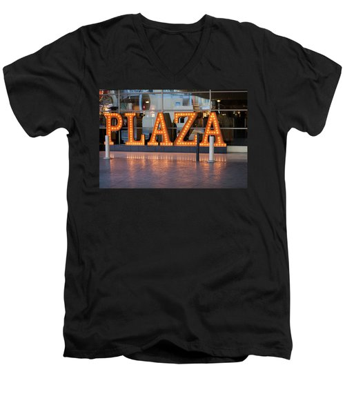 Neon Plaza Men's V-Neck T-Shirt