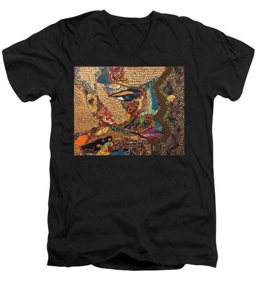Nina Simone Fragmented- Mississippi Goddamn Men's V-Neck T-Shirt