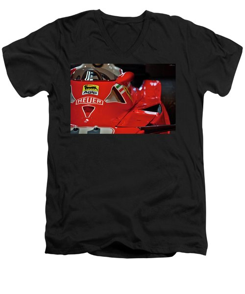 Number 11 By Niki Lauda #print Men's V-Neck T-Shirt