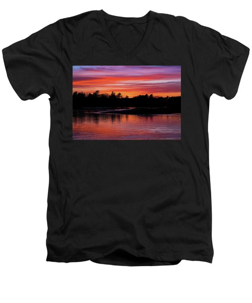 Odiorne Point Sunset Men's V-Neck T-Shirt