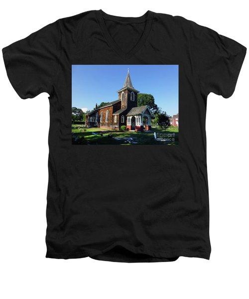 Old Grace Church Massapequa  Men's V-Neck T-Shirt