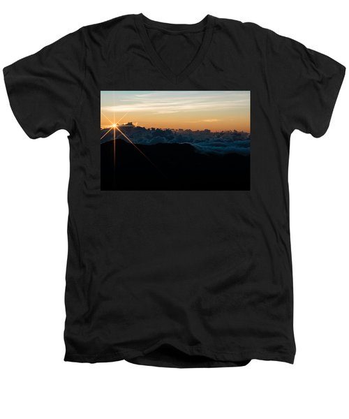 Men's V-Neck T-Shirt featuring the photograph On Top Of The World by Colleen Coccia