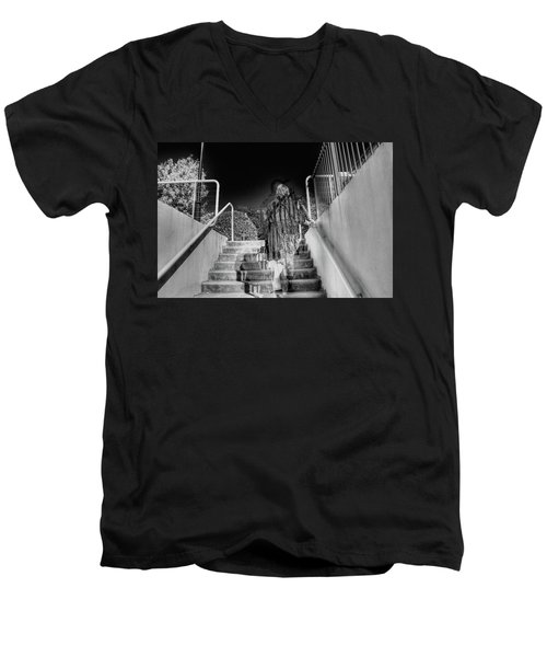 Men's V-Neck T-Shirt featuring the photograph Out Of Phase by Andy Lawless