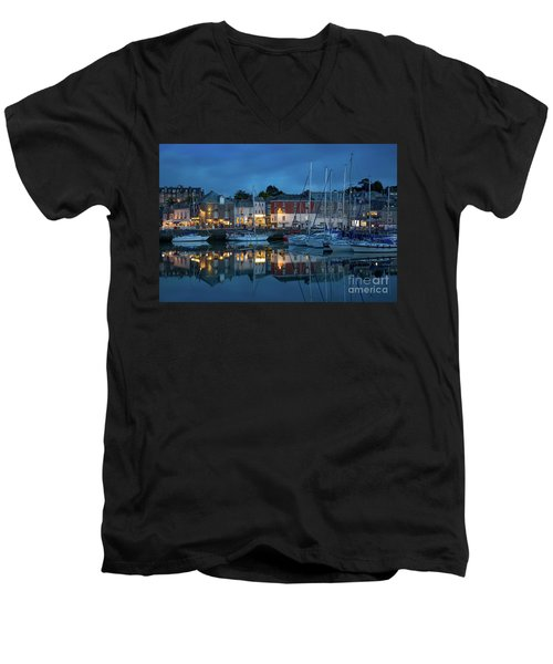 Men's V-Neck T-Shirt featuring the photograph Padstow Evening by Brian Jannsen