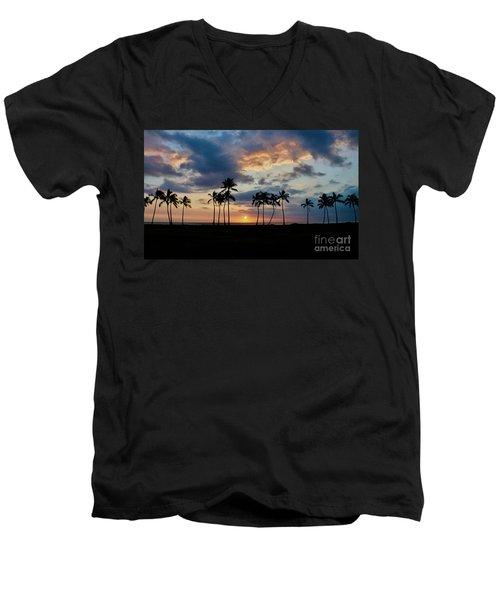 Palms At Sunset Men's V-Neck T-Shirt