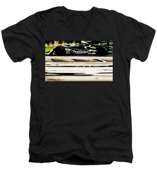Men's V-Neck T-Shirt featuring the photograph Patron by Michael Nowotny