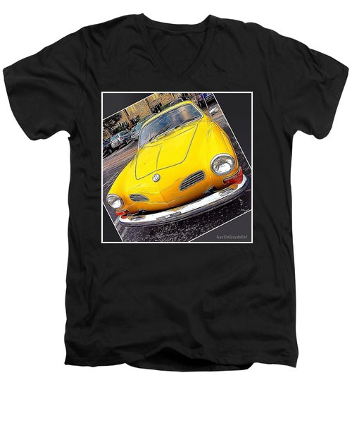 Photoshopping The #yellow #karminnghia Men's V-Neck T-Shirt