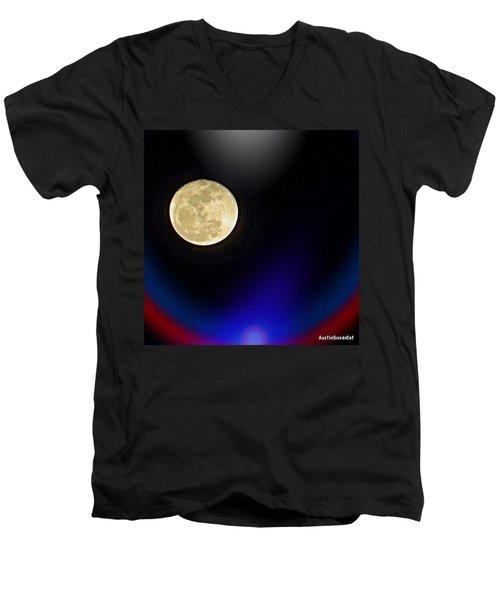Photoshopping Tonight's #moon. Wish Men's V-Neck T-Shirt