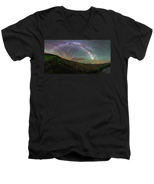 Men's V-Neck T-Shirt featuring the photograph Pinnacles  by Aaron J Groen