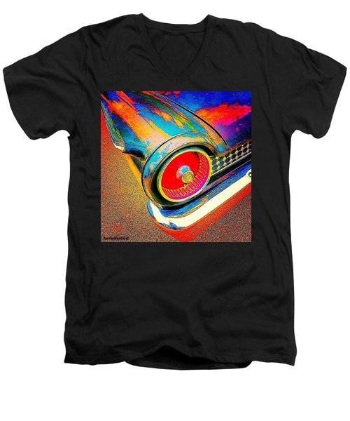 #psychedelic Sunday. There Is Just Men's V-Neck T-Shirt