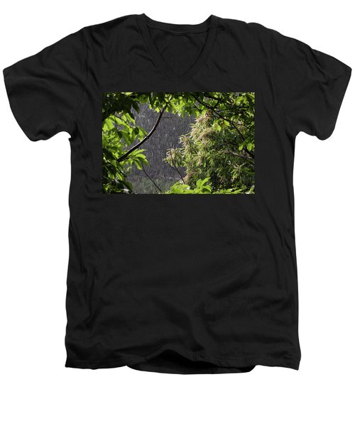 Men's V-Neck T-Shirt featuring the photograph Rain by Bruno Spagnolo