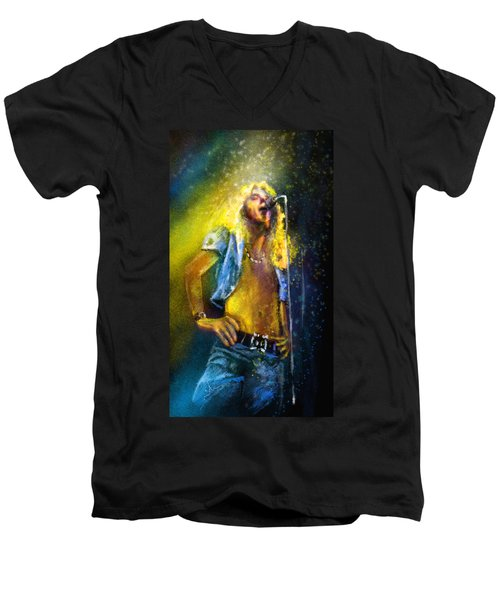 Robert Plant 01 Men's V-Neck T-Shirt by Miki De Goodaboom