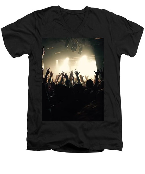Rock And Roll Men's V-Neck T-Shirt by Andre Brands
