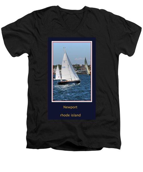 Sailing Newport Men's V-Neck T-Shirt