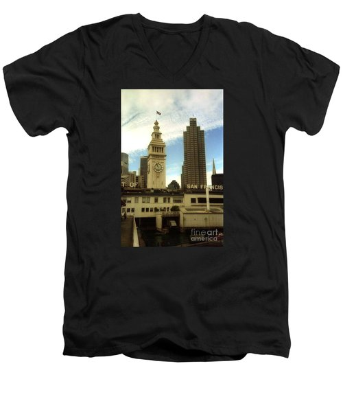 San Francisco Port Men's V-Neck T-Shirt