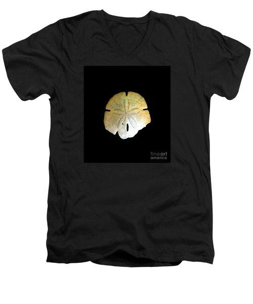 Sand Dollar Men's V-Neck T-Shirt by Fred Wilson