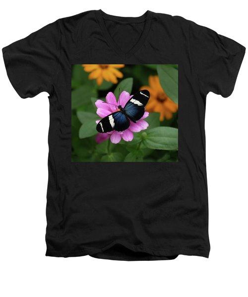 Sara Longwing Butterfly Men's V-Neck T-Shirt