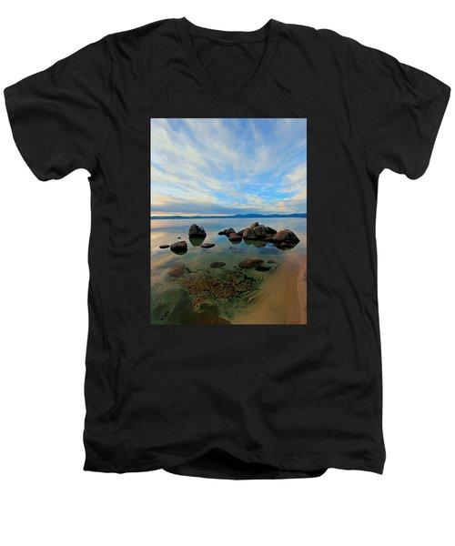 Serenity  Men's V-Neck T-Shirt by Sean Sarsfield