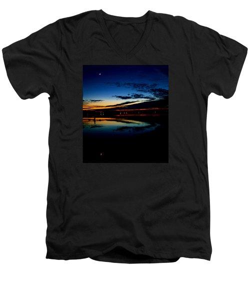 Shades Of Calm Men's V-Neck T-Shirt by William Bartholomew