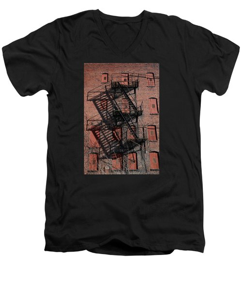 Men's V-Neck T-Shirt featuring the photograph Shadows by Karen Harrison