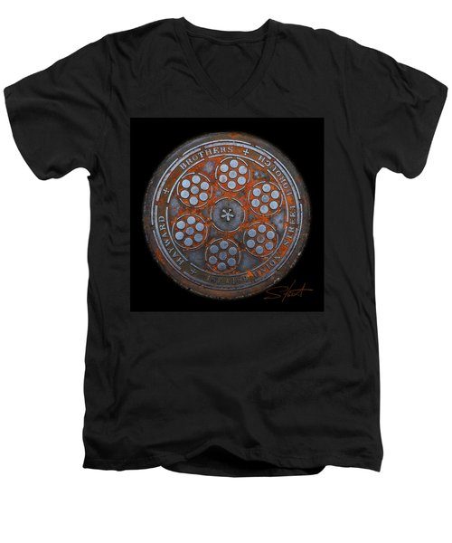 Shield Men's V-Neck T-Shirt