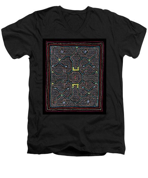 Shipibo Art Men's V-Neck T-Shirt