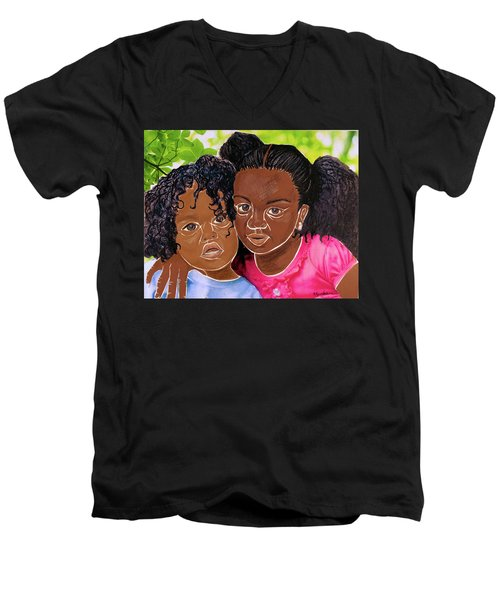 My Little Sister Men's V-Neck T-Shirt