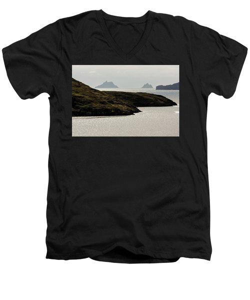 Skellig Islands, County Kerry, Ireland Men's V-Neck T-Shirt