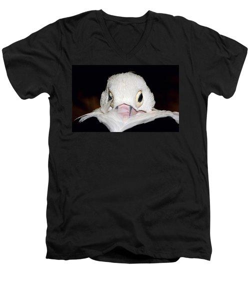 Snuggled Men's V-Neck T-Shirt