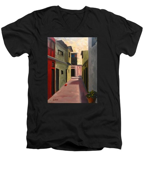 Somewhere In The City, Peru Impression Men's V-Neck T-Shirt