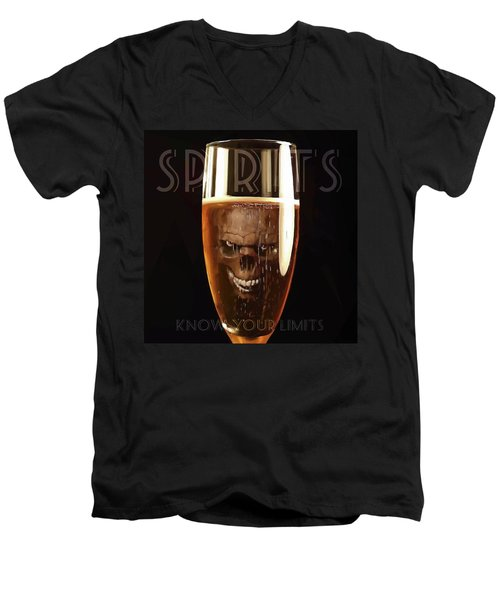 Spirits - Know Your Limits Men's V-Neck T-Shirt by ISAW Gallery