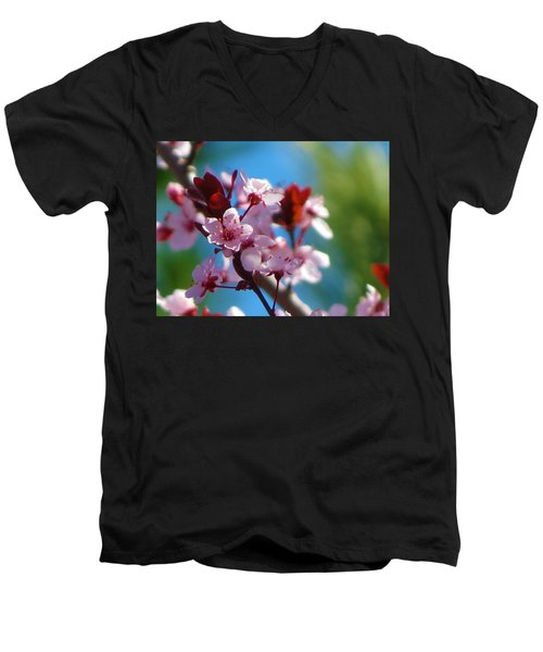 Spring Blossoms Men's V-Neck T-Shirt