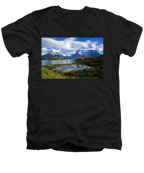 Springtime In Patagonia Men's V-Neck T-Shirt